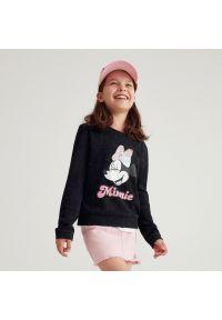 Reserved - Koszulka z długim rękawem Myszka Minnie - Czarny. Kolor: czarny. Długość rękawa: długi rękaw. Długość: długie. Wzór: motyw z bajki