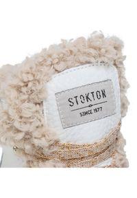 Białe botki Stokton