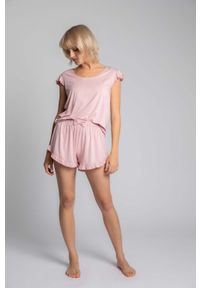 Różowa piżama MOE krótka