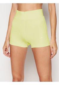 Adidas - adidas Szorty sportowe Tennis Luxe Booty H56462 Żółty Slim Fit. Kolor: żółty
