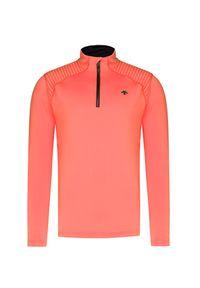 Pomarańczowy golf Descente krótki, z golfem