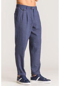 Niebieskie spodnie Joop! Collection z haftami, eleganckie