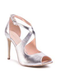 Srebrne sandały Baldaccini eleganckie