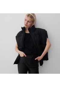 Reserved - T-shirt basic z bawełny organicznej - Czarny. Kolor: czarny. Materiał: bawełna
