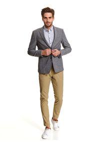 TOP SECRET - Koszula we wzór o kroju regular. Kolor: szary. Materiał: bawełna. Długość: długie. Sezon: zima. Styl: klasyczny #6