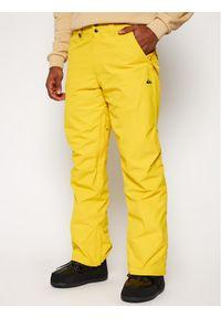 Żółte spodnie sportowe Quiksilver narciarskie