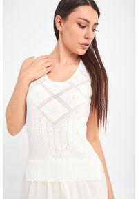 Sukienka TwinSet w ażurowe wzory, na ramiączkach