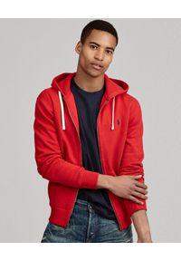 Ralph Lauren - RALPH LAUREN - Czerwona bluza z kapturem. Typ kołnierza: kaptur. Kolor: czerwony. Materiał: dresówka, poliester, materiał, bawełna. Długość rękawa: długi rękaw. Długość: długie. Wzór: haft. Styl: elegancki