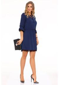 Niebieska sukienka Merribel boho