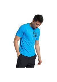 Koszulka sportowa męska Reebok Workout Ready FU2904. Materiał: nylon, elastan, dzianina, materiał. Długość rękawa: krótki rękaw. Długość: krótkie. Sport: fitness