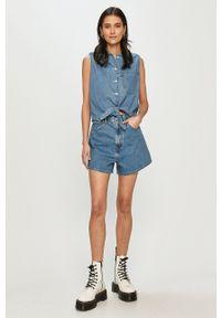 Levi's® - Levi's - Szorty jeansowe. Okazja: na co dzień, na spotkanie biznesowe. Stan: podwyższony. Kolor: niebieski. Materiał: jeans. Styl: biznesowy, casual
