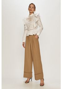Biała bluzka Silvian Heach na co dzień, ze stójką, klasyczna
