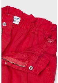 Czerwone jeansy Mayoral gładkie, z podwyższonym stanem