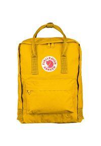 Żółty plecak Fjällräven z aplikacjami, klasyczny