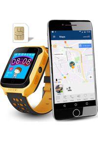 Żółty zegarek CALMEAN smartwatch