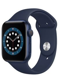 APPLE - Apple smartwatch Watch Series 6, 44mm Blue Aluminium Case with Deep Navy Sport Band (M00J3HC/A). Rodzaj zegarka: smartwatch. Kolor: niebieski. Styl: sportowy