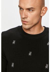 Czarna bluza nierozpinana John Frank casualowa, na co dzień