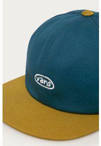 Turkusowa czapka z daszkiem Vans z aplikacjami