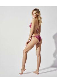 PRAIA BEACHWEAR - Różowe bikini z weluru Material Girl. Kolor: różowy, wielokolorowy, fioletowy. Materiał: welur
