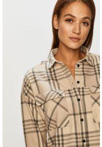 Dr. Denim - Koszula bawełniana. Kolor: beżowy. Materiał: bawełna, denim