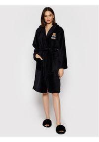 Czarny szlafrok Moschino Underwear & Swim