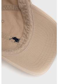 Polo Ralph Lauren - Czapka. Kolor: beżowy