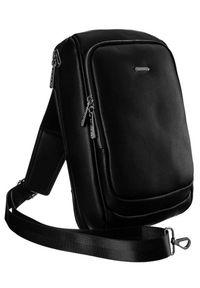 DAVID JONES - Plecak na jedno ramię czarny David Jones 798802 BLACK. Kolor: czarny. Materiał: skóra ekologiczna. Wzór: gładki. Styl: elegancki