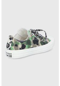 Converse - Tenisówki. Nosek buta: okrągły. Zapięcie: sznurówki. Kolor: zielony. Materiał: guma