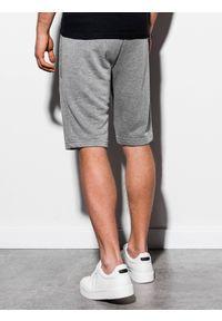 Ombre Clothing - Krótkie spodenki męskie dresowe W239 - szary melanż - XXL. Okazja: na co dzień. Kolor: szary. Materiał: dresówka. Długość: krótkie. Wzór: melanż. Sezon: wiosna, lato. Styl: casual, klasyczny #4