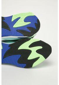 Niebieskie sneakersy Puma na sznurówki, z okrągłym noskiem