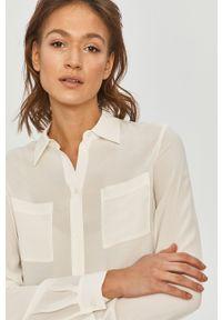 Biała koszula Pinko na co dzień, długa, gładkie, z klasycznym kołnierzykiem