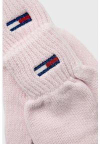 Tommy Jeans - Rękawiczki. Kolor: różowy