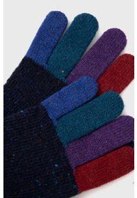 Paul Smith - Rękawiczki. Kolor: niebieski. Materiał: dzianina