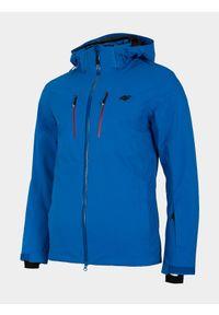 Niebieska kurtka narciarska 4f Dermizax, z nadrukiem