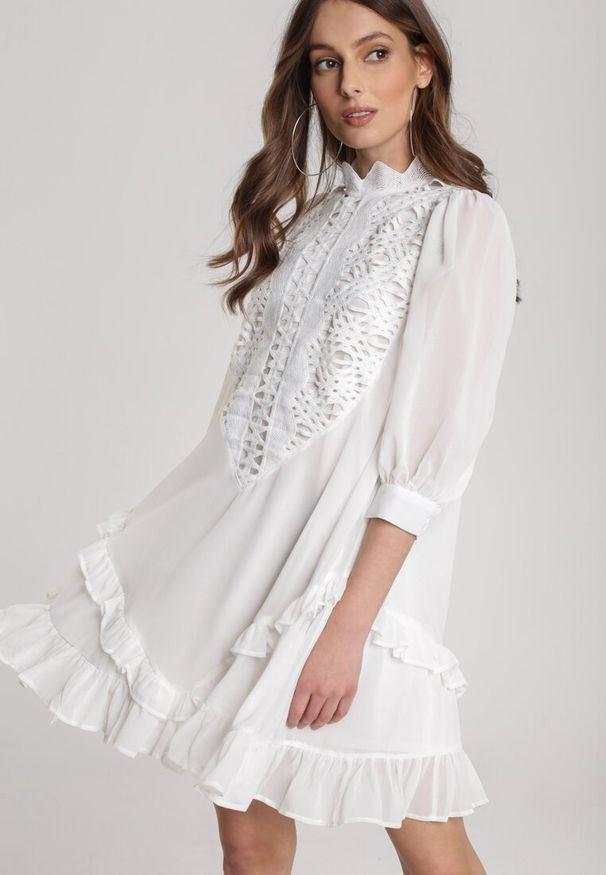 Biała sukienka mini Renee