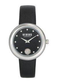 Versus Versace - Zegarek VSPEN1020. Kolor: czarny. Materiał: skóra, materiał