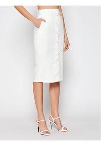 Biała spódnica jeansowa Marella