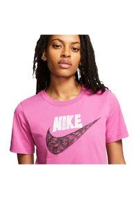 Koszulka damska Nike Sportswear CJ2055. Materiał: bawełna, materiał. Długość rękawa: krótki rękaw. Długość: krótkie