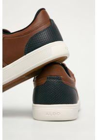 Brązowe sneakersy Aldo z cholewką, z okrągłym noskiem, na sznurówki