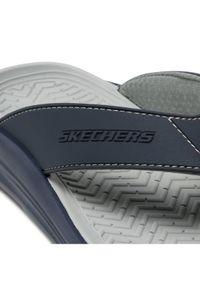 skechers - Skechers Japonki Sunview 210069/NVGY Granatowy. Kolor: niebieski