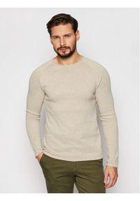 Beżowy sweter klasyczny Jack & Jones
