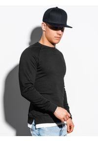 Ombre Clothing - Bluza męska bez kaptura B1217 - czarna - XXL. Typ kołnierza: bez kaptura. Kolor: czarny. Materiał: poliester, bawełna