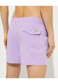 Ralph Lauren - RALPH LAUREN - Lawendowe spodenki kąpielowe Traveler. Kolor: wielokolorowy, różowy, fioletowy. Materiał: tkanina, mesh. Wzór: haft, aplikacja