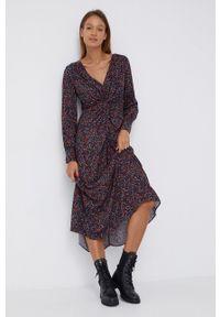 Pepe Jeans - Sukienka Babette. Materiał: tkanina. Typ sukienki: rozkloszowane