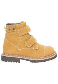 Beżowe buty zimowe 4f na rzepy, z cholewką, na jesień