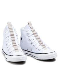 Converse - Trampki CONVERSE - Ctas Hi 170131C White/String/Black. Okazja: na co dzień. Kolor: biały. Materiał: materiał. Szerokość cholewki: normalna