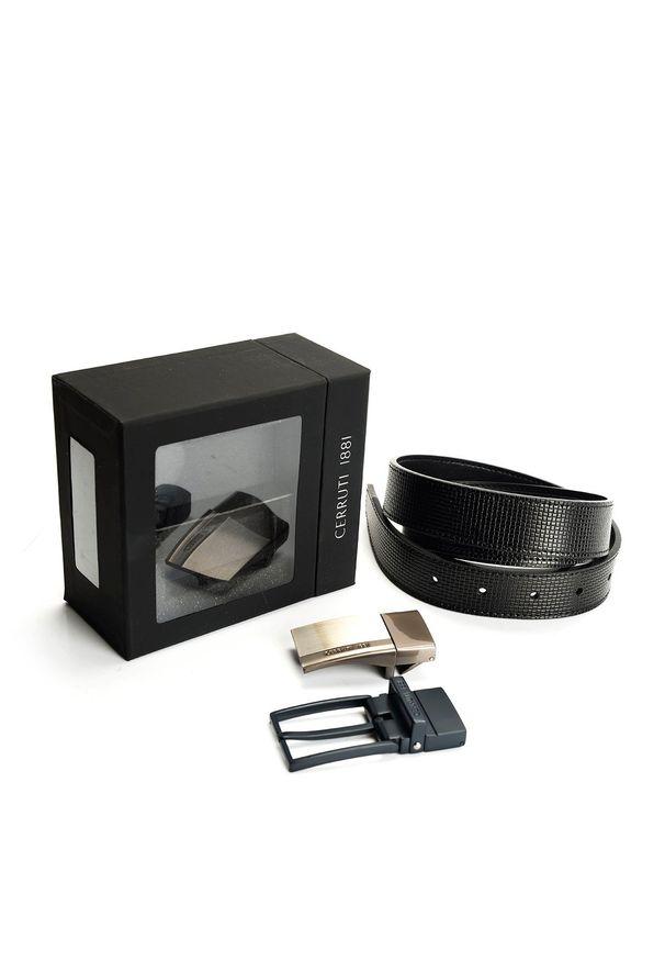 "Cerruti 1881 Pasek ""Gift Box"". Materiał: skóra"