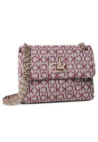 Różowa torebka klasyczna Calvin Klein klasyczna