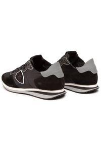 Czarne sneakersy Philippe Model na co dzień, z cholewką