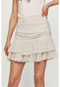 Biała spódnica Guess w grochy, casualowa